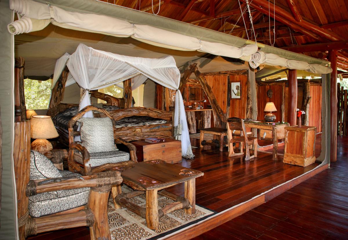 River Suite Tent Bedroom