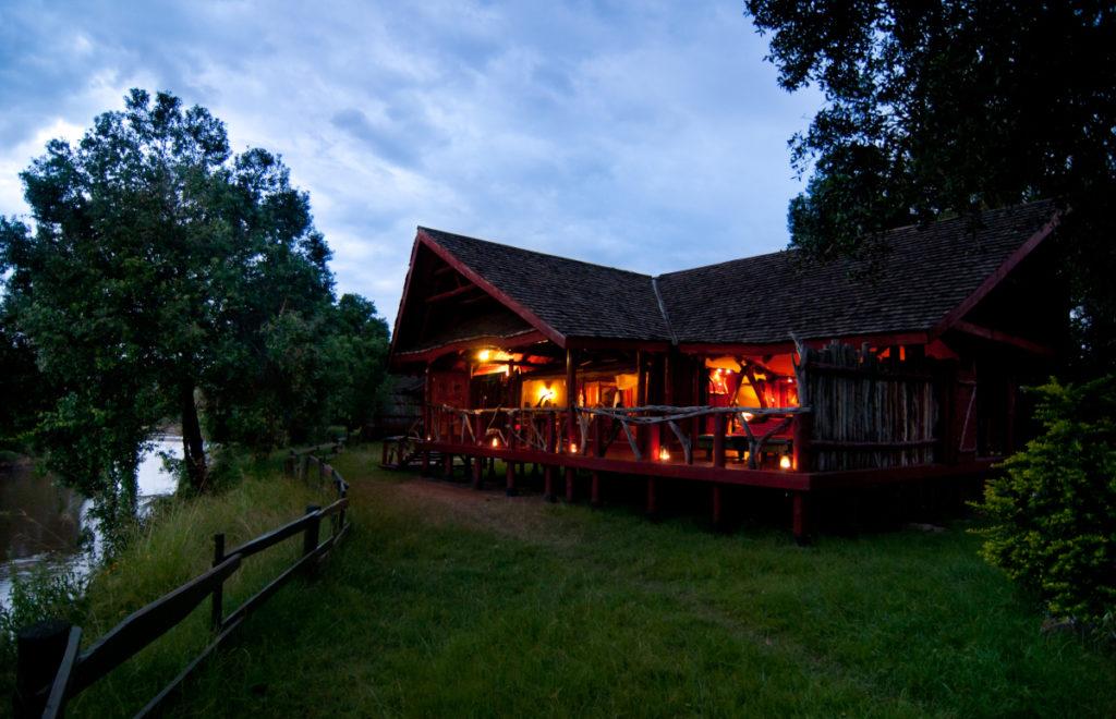 Royal Mara riverfront tent suite next to Mara River, Masai Mara, Kenya, Africa